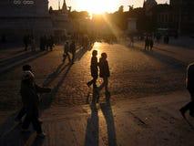 Sera romantica nella piazza Venezia, Roma Immagini Stock