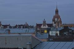 Sera San Pietroburgo, Russia Fotografie Stock Libere da Diritti