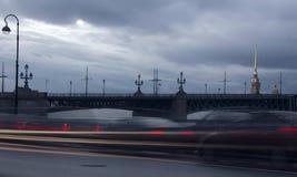 Sera San Pietroburgo, Russia Fotografia Stock Libera da Diritti