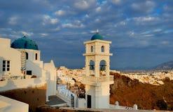 Sera Santorini isola L'Italia Immagini Stock Libere da Diritti