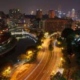 Sera a Singapore Fotografia Stock Libera da Diritti
