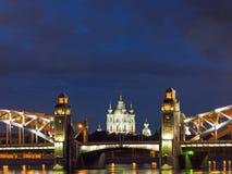 Sera St Petersburg Notti bianche Immagine Stock Libera da Diritti