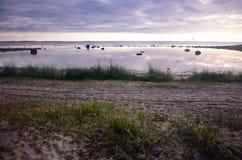 Sera su un mare del Nord Fotografia Stock Libera da Diritti