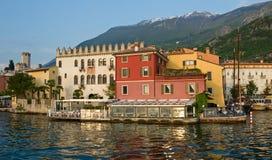 Sera sul lago Garda Fotografie Stock