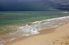 Sera sul mar dei Caraibi Fotografia Stock Libera da Diritti