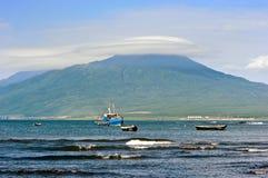 Sera sull'isola di Iturup Fotografia Stock Libera da Diritti