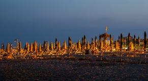 Sera sulla spiaggia Fotografia Stock Libera da Diritti