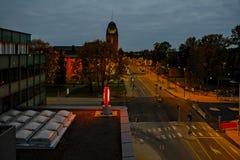 Sera tardi in Joensuu, Finlandia Fotografia Stock