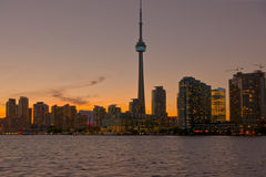 Sera a Toronto Fotografie Stock Libere da Diritti