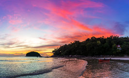 Sera variopinta di tramonto Fotografia Stock Libera da Diritti