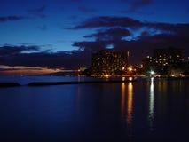 Sera in Waikiki Fotografia Stock Libera da Diritti