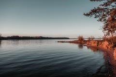 Sera in yacht club che è a Kaunas immagine stock libera da diritti