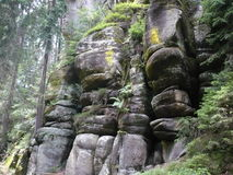Sera zapas - Adršpach-Teplice skały Zdjęcia Stock