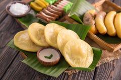 Serabi crêpe indonésienne Image stock