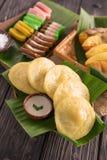 Serabi crêpe indonésienne Photographie stock