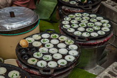 Serabi Thailand sweet dessert; Asia delicious cuisine traditional Royalty Free Stock Images