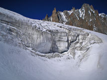 Serac. On the glacier of vallee blanche Royalty Free Stock Image
