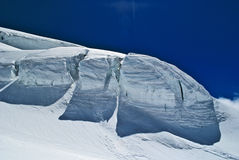 Serac. On lys glacier on monte rosa Stock Photo