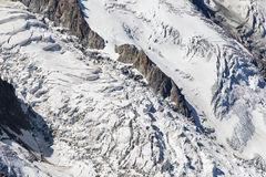Seracs of the Bossons Icefall Royalty Free Stock Photos