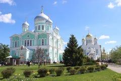 Seraf av Sarov i seraf-Diveevokloster för helig Treenighet i Diveevo, Ryssland royaltyfri bild