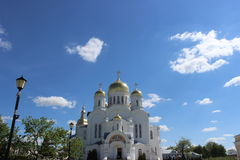 Seraf av Sarov i seraf-Diveevokloster för helig Treenighet i Diveevo, Ryssland fotografering för bildbyråer