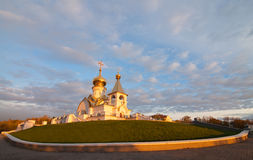 Serafim Sarovsky Cathedral on sunset in Khabarovsk, Russia Stock Image