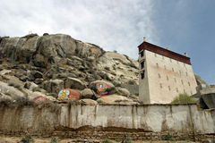 Serakloster i Tibet Arkivbilder