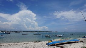 serangan海滩的巴厘岛港口 免版税库存图片