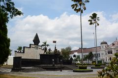 Serangan Umum 1 Maret 1949 monument. Yogyakarta. Java. Indonesia. The General Offensive of 1 March 1949 was a military offensive during the Indonesian National royalty free stock photography