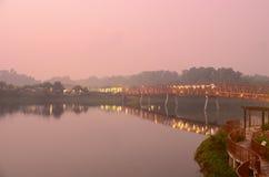 Serangoon-Reservoir-Rot-Brücke Lizenzfreies Stockbild