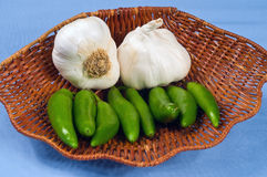 Serano Peppers Stock Photography