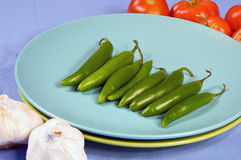 Serano Peppers Royalty Free Stock Images
