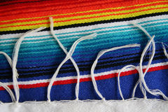Serape. Close up of a colorful Mexican Serape Royalty Free Stock Photography