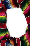Serape as a border with copy space Royalty Free Stock Photo