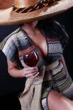 Serape girl Stock Images