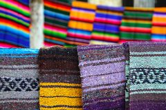 Serape mexican blanket colorful pattern. Beautiful serape mexican blanket colorful pattern Royalty Free Stock Image