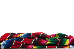 Serape on a white background with copy space Royalty Free Stock Images