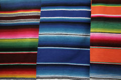 Serapes. Handcrafted and colorful mexican serapes Stock Photography