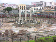 Serapis Temple. Pozzuoli, Campania, Italy - March 28, 2016: Serapis Temple or Macellum, public market with square courtyard and central colonnade, tied to Royalty Free Stock Photo