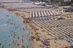 Serapo海滩-加埃塔,意大利 免版税库存图片