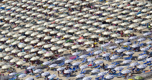 Serapo Beach umbrellas Stock Image