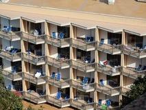 Serapo - Hotelbalkone stockbilder