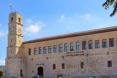 Seraya, Ottoman fortress, Safed, Galilee, Israel. Seraya, old Ottoman fortress and clock tower, Safed, Upper Galilee, Israel Royalty Free Stock Image