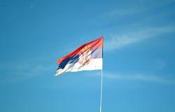 Serb flaga Zdjęcie Stock