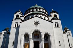 Serb orthodox Cathedral Church of St Sava Belgrade Serbia Stock Images