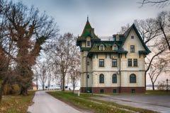 Serb-ungrare arkitektur i Vojvodina fotografering för bildbyråer