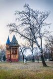 Serb-ungrare arkitektur i Vojvodina royaltyfria foton