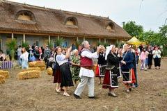 ` Serbare Campeneasca `在Visina,图尔恰,罗马尼亚 免版税库存照片