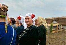 ` Serbare Campeneasca `在Visina,图尔恰,罗马尼亚 免版税图库摄影