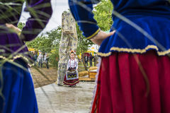 ` Serbare Campeneasca `在Visina,图尔恰,罗马尼亚 库存照片